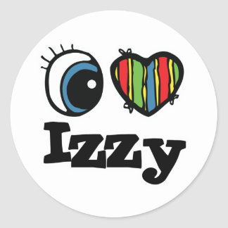 I Heart (Love) Izzy Classic Round Sticker