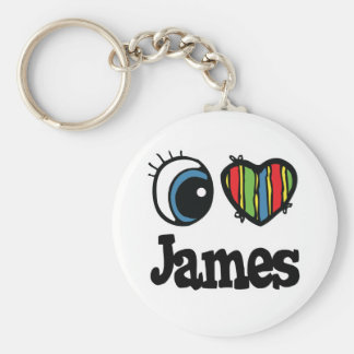 I Heart (Love) James Key Chain