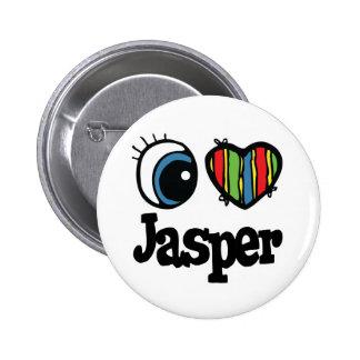 I Heart (Love) Jasper Pinback Button