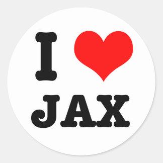 I HEART (LOVE) JAX CLASSIC ROUND STICKER