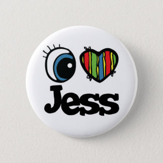 I Heart (Love) Jess Pinback Button