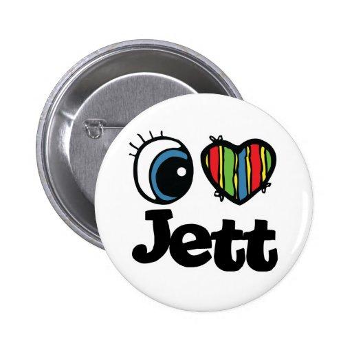 I Heart (Love) Jett Pinback Buttons