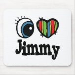 I Heart (Love) Jimmy Mouse Pad