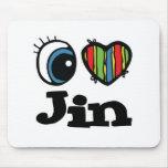 I Heart (Love) Jin Mouse Pad