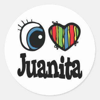 I Heart (Love) Juanita Classic Round Sticker