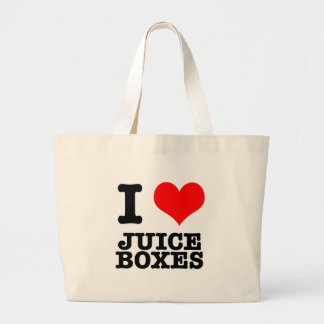 I HEART (LOVE) JUICE BOXES LARGE TOTE BAG
