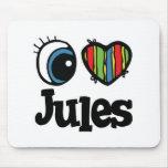 I Heart (Love) Jules Mouse Pad