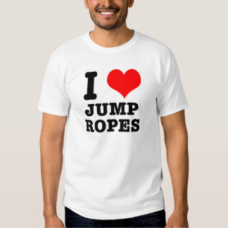 I HEART (LOVE) jump ropes T-shirt