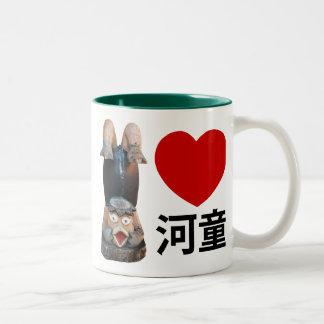 I Heart [Love] Kappa Two-Tone Coffee Mug