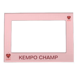 I Heart Love Kempo Photo Frame Picture Frame Magnet