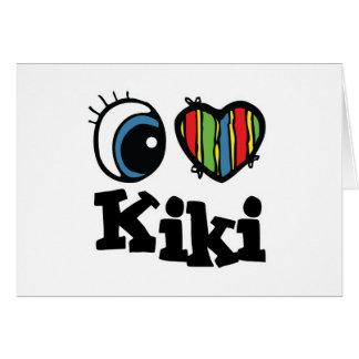 I Heart (Love) Kiki Card