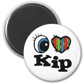 I Heart (Love) Kip 2 Inch Round Magnet