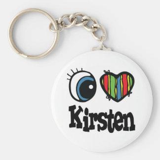 I Heart (Love) Kirsten Key Chain