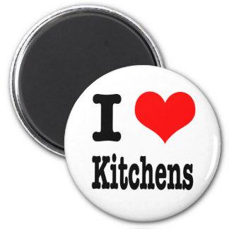 I HEART (LOVE) kitchens Fridge Magnets