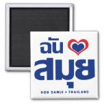 I Heart (Love) Koh Samui ❤ Thailand Fridge Magnet