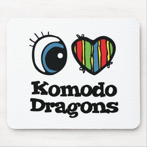 I Heart (Love) Komodo Dragons Mouse Pad