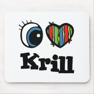 I Heart (Love) Krill Mouse Pad