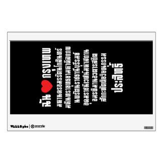 I Heart [Love] Krung Thep Maha Nakhon ... Wall Sticker