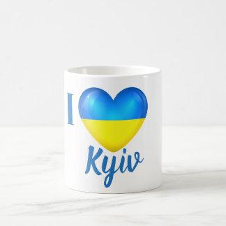 I Heart Love Kyiv Ukraine Flag Mug