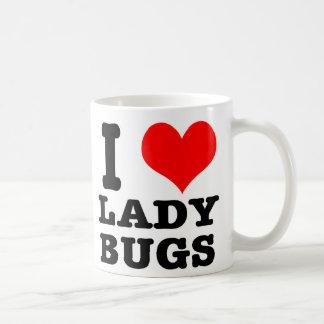 I HEART (LOVE) ladybugs Classic White Coffee Mug