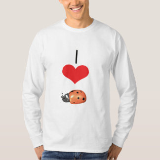 I Heart (Love) Ladybugs   T-Shirt