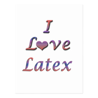 I Heart (Love) Latex Postcard