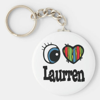 I Heart (Love) Laurren Key Chain