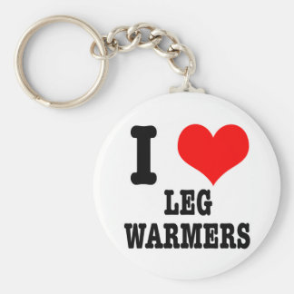 I HEART (LOVE) LEG WARMERS KEYCHAIN
