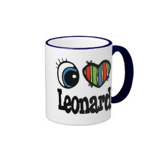 I Heart Love Leonard Coffee Mug