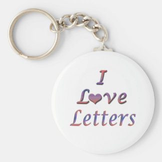 I Heart (Love) Letters Keychain