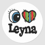 I Heart (Love) Leyna Classic Round Sticker
