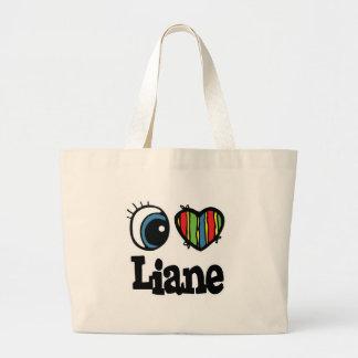 I Heart (Love) Liane Tote Bags