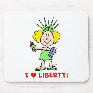 I heart love liberty libbie statue mouse pad