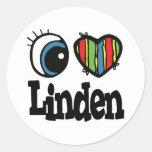I Heart (Love) Linden Classic Round Sticker