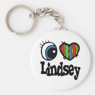 I Heart (Love) Lindsey Keychain