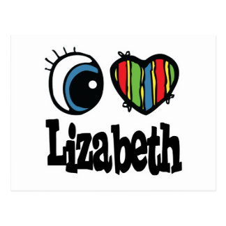 I Heart (Love) Lizabeth Postcard
