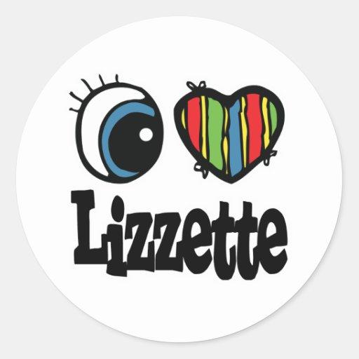 I Heart (Love) Lizzette Classic Round Sticker