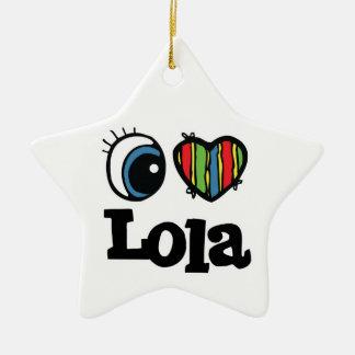 I Heart Love Lola Christmas Tree Ornaments