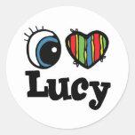 I Heart (Love) Lucy Classic Round Sticker