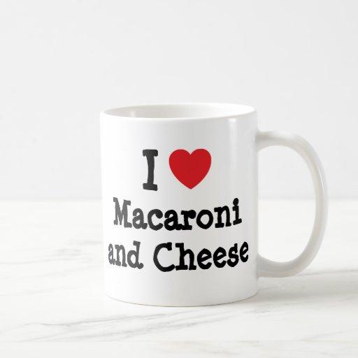 I heart (love) Macaroni and Cheese Mug