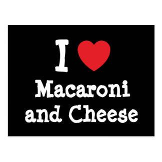 I heart (love) Macaroni and Cheese Postcard