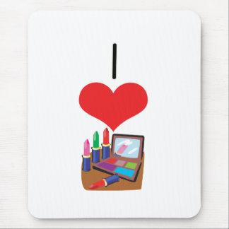 I Heart (Love) Makeup Mouse Pad