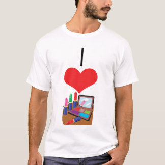 I Heart (Love) Makeup T-Shirt