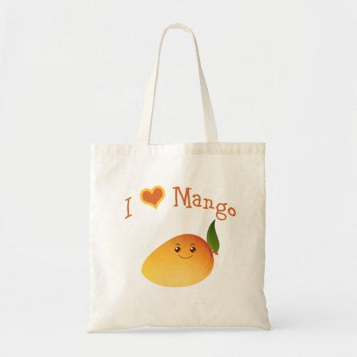 I Heart (love) Mango Tote Bag