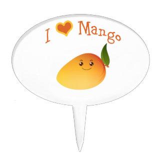 I Heart love Mango Cake Topper