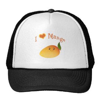 I Heart (love) Mango Trucker Hats