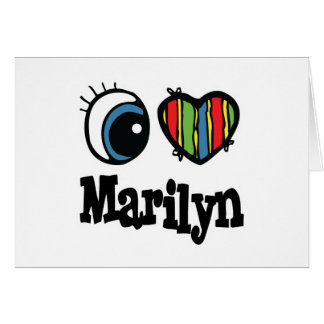 I Heart (Love) Marilyn Greeting Cards