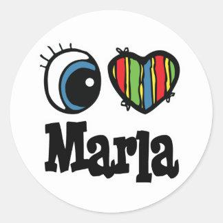 I Heart (Love) Marla Classic Round Sticker