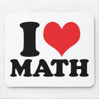 I Heart / love math Mouse Pad