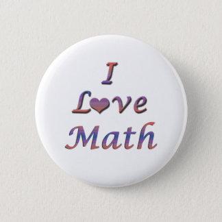 I Heart (Love) Math Pinback Button